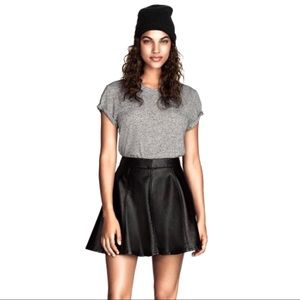 H&M faux leather high-waisted mini circle skirt 8